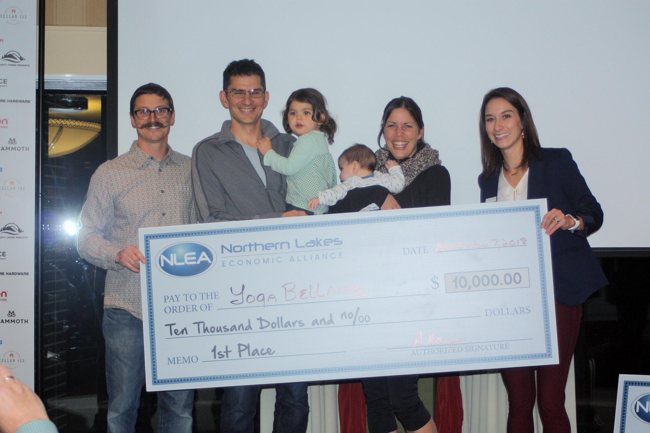 1st Place $10,000 - Rebecca Rankin, Yoga Bellaire