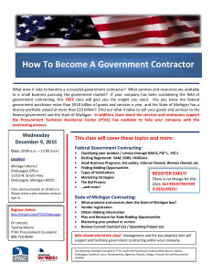 How To Become A Government Contractor @ Michigan Works! Office | Cheboygan | Michigan | United States