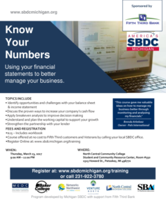 Know Your Numbers Workshop @ North Central Michigan College | Petoskey | Michigan | United States