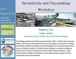Brownfields and Placemaking Workshop @ Community Center | East Jordan | Michigan | United States