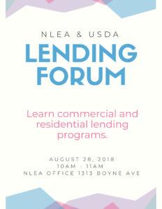 Lending Forum @ NLEA Office | Boyne City | Michigan | United States