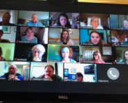 Zoom meeting of Northern Michigan organizations collaborating during COVID-19