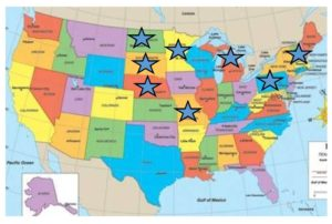 First ever virtual multi-state conference map