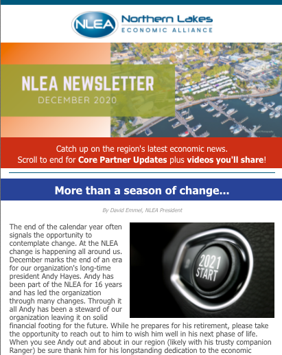 Preview of NLEA December 2020 newsletter
