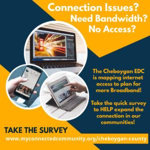 Link to Cheboygan Broadband survey 2020
