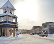 Boyne City downtown in January